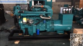 100kw Marine Diesel Generator Ricardo R6105AZLC Engine with sea heat exchanger and brushes alternator