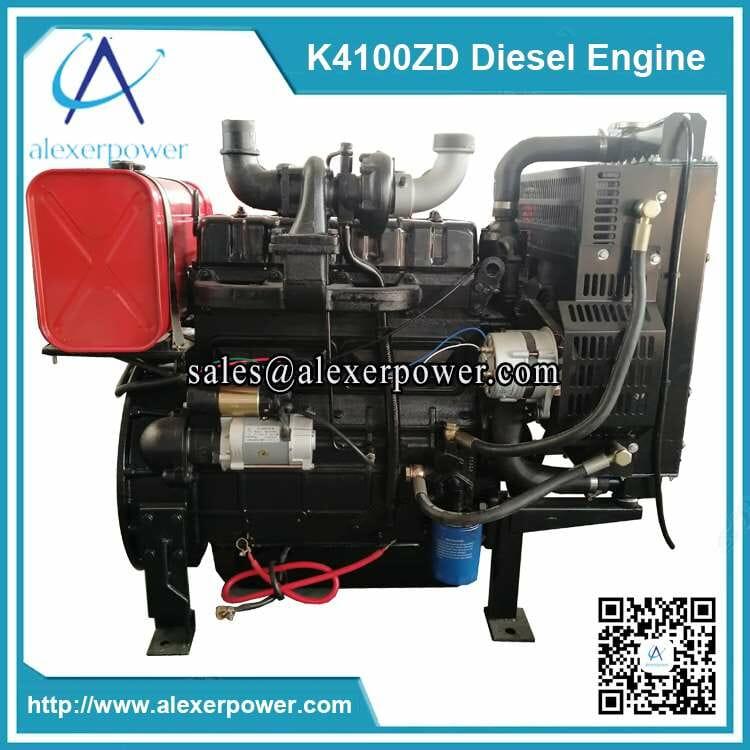 K4100ZD diesel engine with fuel tank-3