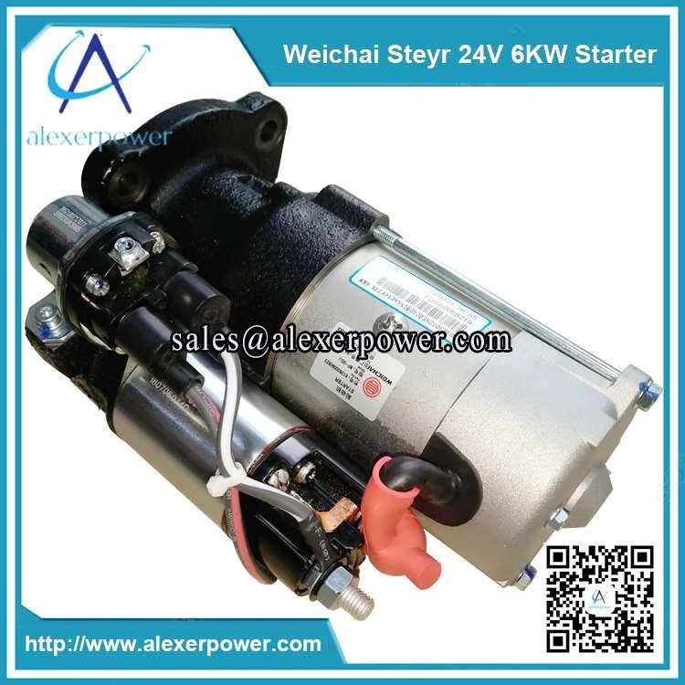 Genuine-weichai-engine-parts-steyr-starter-612600090923-24V-6KW-3