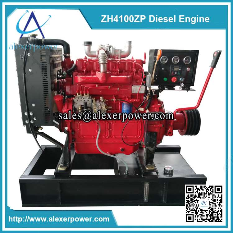 Weifang-ZH4100ZP-diesel-engine-with-cultch-and-belt-pulley-1