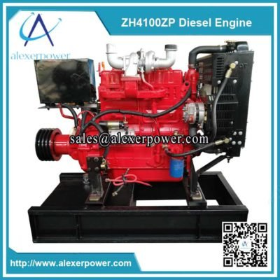 Weifang-ZH4100ZP-diesel-engine-with-cultch-and-belt-pulley-2