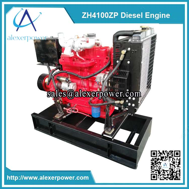 Weifang-ZH4100ZP-diesel-engine-with-cultch-and-belt-pulley-3