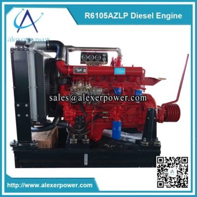 Weifang ricardo r6105azlp diesel engine with clutch and pulley-1