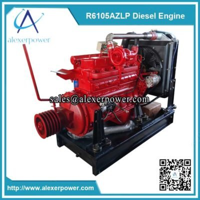 Weifang-ricardo-r6105azlp-diesel-engine-with-clutch-and-pulley-3